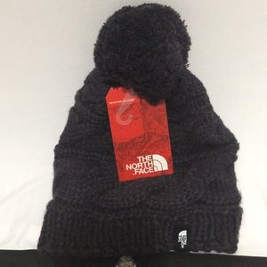North Face triple cable knit beanie